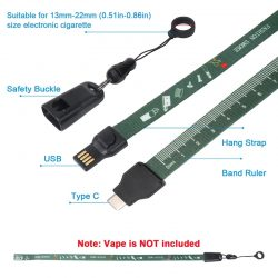 lanyard charge cable for E-cig