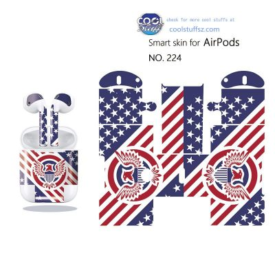 US flag sticker for air pod